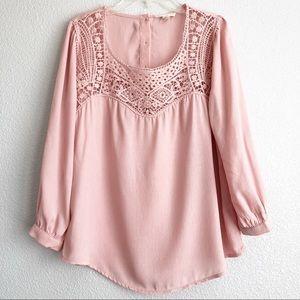 Anthropologie (E Hanger M) Blush Pink Top M